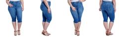 Seven7 Jeans Trendy Plus Size The Breezy Slim Crop Jeans