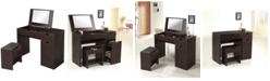 Furniture of America Wurth Vanity With Stool