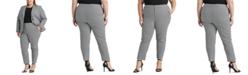 Lauren Ralph Lauren Plus-Size Houndstooth Cotton-Blend Pants