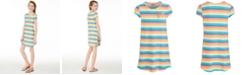 Epic Threads Big Girls Rainbow Stripe T-Shirt Dress, Created for Macy's