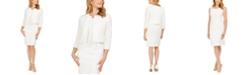 Le Suit Jewel-Neck Flyaway Jacket & Dress Suit