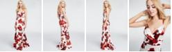 Teeze Me Juniors' Floral-Print Gown