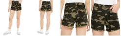 Celebrity Pink Camo Curvy Frayed-Hem Shorts