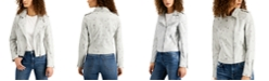 Vigoss Jeans Viggos Jeans Star-Print Moto Jacket