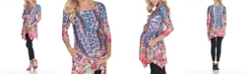 White Mark Maternity Arlene Tunic Top