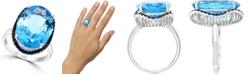 LALI Jewels Swiss Blue Topaz (13-7/8 ct. t.w.) & Sapphire (1/2 ct. t.w.) in 14k White Gold