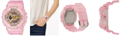 G-Shock Women's Analog-Digital Frosted Pink Resin Strap Watch 43.4mm