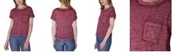 Ultra Flirt Juniors' Crewneck Burnout T-Shirt
