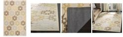 """Martha Stewart Collection Quilt MSR1843A Creme 5'6"""" x 8'6"""" Area Rug"""