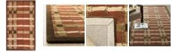 "Martha Stewart Collection Color Weave Plaid MSR3613D Terracotta 2'6"" x 4'3"" Area Rug"