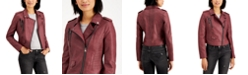 CoffeeShop Juniors' Faux-Leather Moto Jacket, Created for Macy's