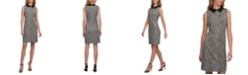 Tommy Hilfiger Collared Tweed A-Line Dress