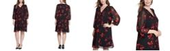 Calvin Klein Plus Size Floral-Print A-line Dress