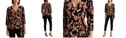 Lauren Ralph Lauren Linen Flutter-Sleeve Top