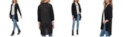 DKNY Mixed-Media Asymmetrical Open-Front Cardigan Sweater