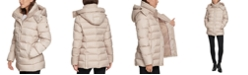 Calvin Klein Hooded Faux-Fur-Lined Down Puffer Coat, Created for Macy's