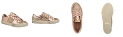 GUESS Women's Loven Quilted Lace-Up Sneakers
