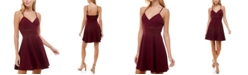 Trixxi Juniors' Surplice Fit & Flare Dress