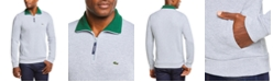 Lacoste Men's Ribbed Quarter-Zip Cotton Sweatshirt