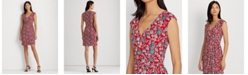 Lauren Ralph Lauren Floral Jersey Wrap-Style Dress