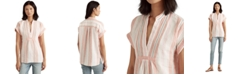 Lauren Ralph Lauren Linen Striped Top