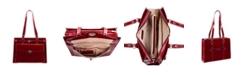 "McKlein Joliet 15.4"" Top Grain Cowhide Leather Laptop Shoulder Tote"