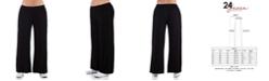 24seven Comfort Apparel Women's Plus Size Comfortable Palazzo Lounge Pants