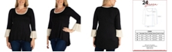24seven Comfort Apparel Women's Plus Size Tunic Top