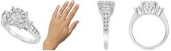 Macy's Diamond Halo Cluster Ring (1 ct. t.w.) in 10k White Gold