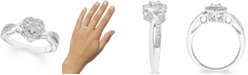 Macy's Diamond Heart Ring (1/8 ct. t.w.) In Sterling Silver
