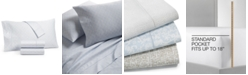 Charter Club Sleep Luxe Printed Cotton 800 Thread Count 4 Pc. Sheet Set, Full, Created for Macy's