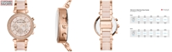 Michael Kors Women's Chronograph Parker Blush and Rose Gold-Tone Stainless Steel Bracelet Watch 39mm MK5896