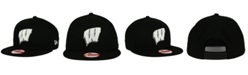 New Era Wisconsin Badgers Black White 9FIFTY Snapback Cap
