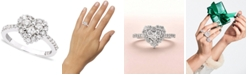 EFFY Collection Classique by EFFY® Diamond Heart Ring (9/10 ct. t.w.) in 14k White Gold or Rose Gold