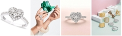 EFFY Collection Classique by EFFY Diamond Heart Ring (9/10 ct. t.w.) in 14k White Gold or Rose Gold