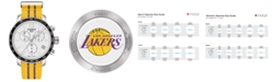 Tissot Unisex Swiss Chronograph Los Angeles Lakers Quickster Yellow and Purple Strap Watch 42mm T0954171703705
