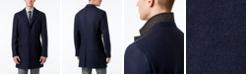 Michael Kors Michael Kors Men's Slim-Fit Twill-to-Plaid Overcoat