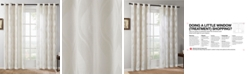 "Madison Park CLOSEOUT! Adele 50"" x 95"" Ogee Jacquard Sheer  Grommet Window Panel"