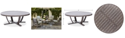 "Furniture Tara Aluminum 48"" Round Outdoor Table, Created for Macy's"