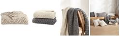 DKNY PURE Cotton Chunky Knit Throw