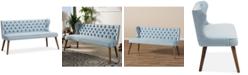 Furniture Scarlett Button-Tufting 3-Seater Sofa, Quick Ship