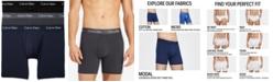 Calvin Klein Men's 3-Pk. Body Modal Stretch Boxer Briefs
