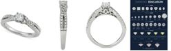 Macy's Diamond Twist Engagement Ring (5/8 ct. t.w.) in 14k White Gold