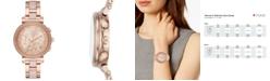 Michael Kors Women's Chronograph Sofie Rose Gold-Tone Stainless Steel & Blush Acetate Bracelet Watch 39mm