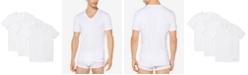 Michael Kors Men's Performance Cotton V-Neck Undershirts, 3-Pack