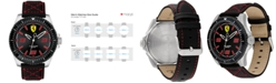 Ferrari Men's XX Kers Black Nylon Canvas Strap Watch 44mm
