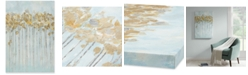 JLA Home Madison Park Minted Forest Gel-Coated Canvas Print with Gold-Tone Foiling