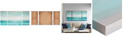JLA Home Madison Park Teal Tides 3-Pc. Gel-Coated Canvas Print Set