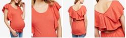 Motherhood Maternity Jessica Simpson Maternity Flutter-Sleeve T-Shirt