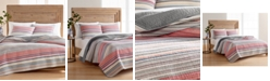 Martha Stewart Collection Rustic Yarn-Dyed Stripe Cotton Twin/Twin XL Quilt, Created for Macy's